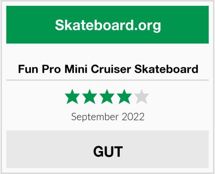 Fun Pro Mini Cruiser Skateboard Test