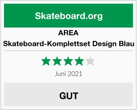 AREA Skateboard-Komplettset Design Blau Test