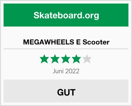 MEGAWHEELS E Scooter Test