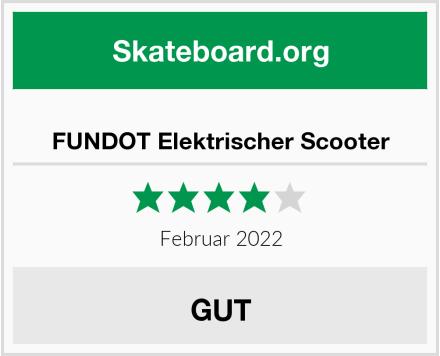 FUNDOT Elektrischer Scooter Test