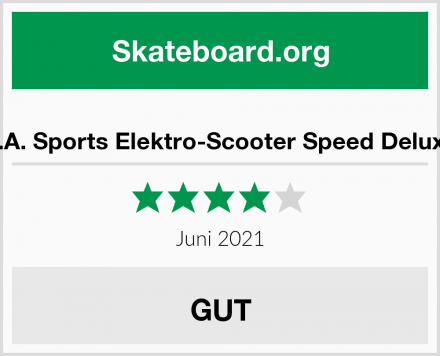 L.A. Sports Elektro-Scooter Speed Deluxe Test