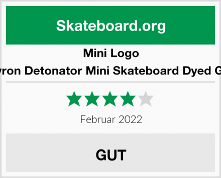 Mini Logo Chevron Detonator Mini Skateboard Dyed Green Test
