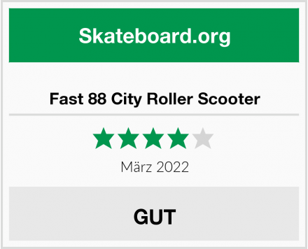 Fast 88 City Roller Scooter Test