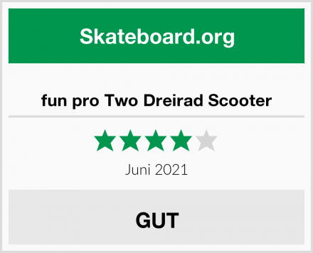 fun pro Two Dreirad Scooter Test