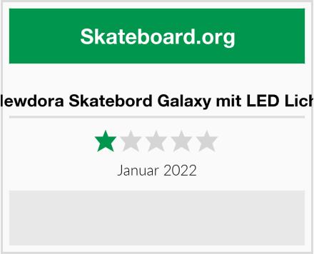 Newdora Skatebord Galaxy mit LED Licht Test
