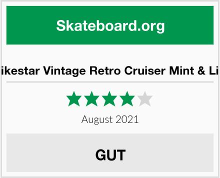 Bikestar Vintage Retro Cruiser Mint & Lila Test