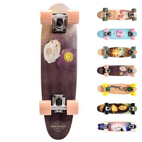 meteor Kinder Skateboard rosa