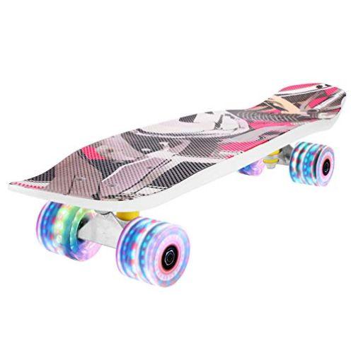 Fynllur Skateboard mit LED-Blitz Räder