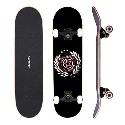 Baytter Skateboard Schwarz