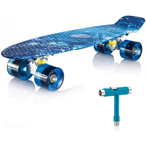 Newdora Skatebord Galaxy mit LED Licht