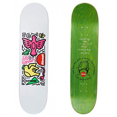 Almost Skateistan Skateboard Deck Sky Doodle R7