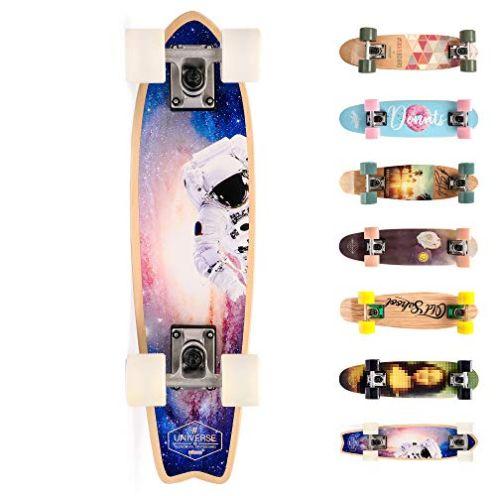 meteor Holz Skateboard Kinder SPACEMAN