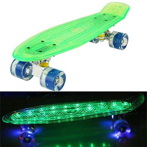 bunao Mini Cruiser Retro Skateboard
