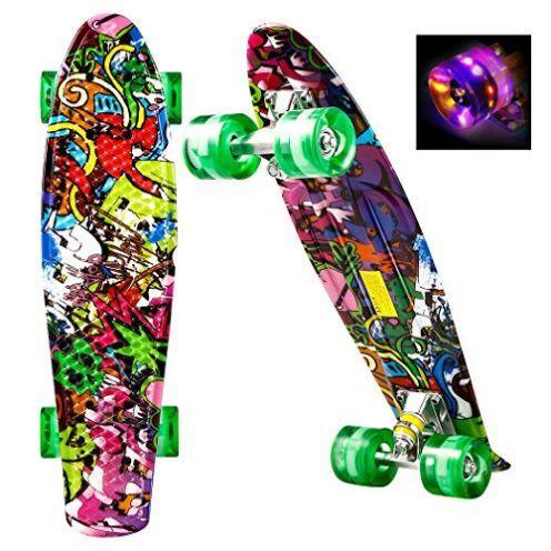 Ancheer Skateboard Mini Cruiser LED