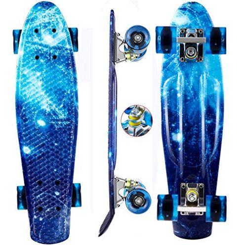 Oppikle Skateboard Blauer Sternenhimmel