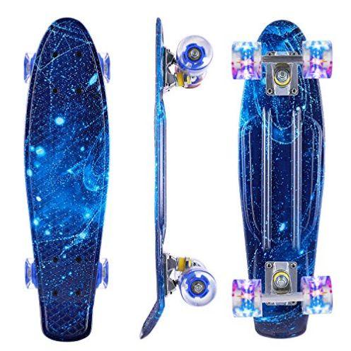 Caroma Skateboard für Anfänger Blau