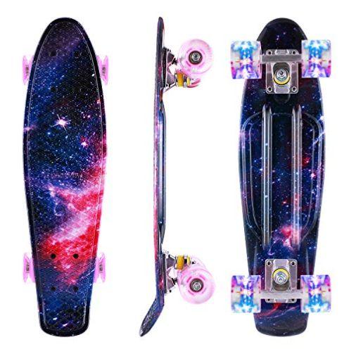 Caroma Skateboard für Anfänger Rosa