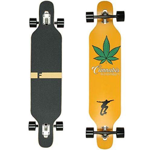 FunTomia Drop Through Longboard Cannabis