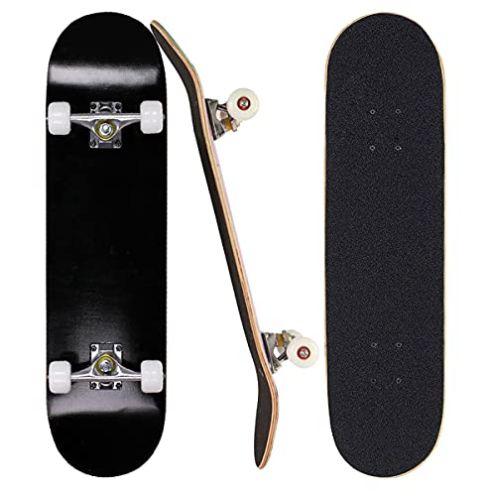 Sumeber Skateboard für Anfänger All Black
